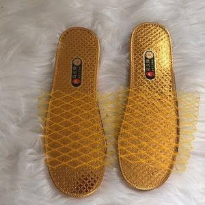 Shoes - BUNDLE (3) of Gold and Silver Slippers  (WC)